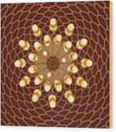 Domed Roof Mandala Wood Print