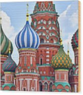 Domes Of St. Basil Wood Print