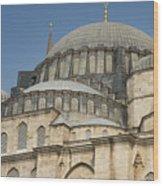 Domes Of Suleymaniye Mosque Wood Print