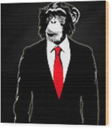 Domesticated Monkey Wood Print