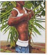 Dominican Beach Wood Print