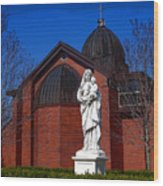 Dominican Sisters Jesus And Mary Wood Print