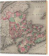 Dominion Of Canada. Provinces Of New Brunswick, Nova Scotia And Prince Edward Island Wood Print