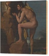 Dominique Ingres   Oedipus And The Sphinx Wood Print