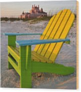 Don Cesar And Beach Chair Wood Print