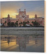 Don Cesar Reflection Wood Print by David Lee Thompson