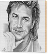 Don Johnson Wood Print