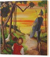 Don Quixote And Sancho Wood Print