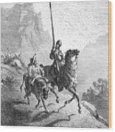 Don Quixote And Sancho Wood Print by Granger