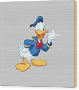 Donald Duck Wood Print