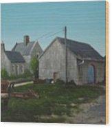 Donamon Railway Station Wood Print