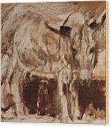 Donkey Daze Wood Print