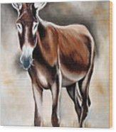 Donkey Wood Print