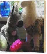 Donkey Joti And Dali Llama Wood Print
