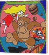 Donkey Kong Arcade Game Art Wood Print