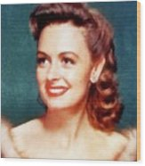 Donna Reed By John Springfield Wood Print