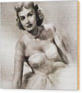 Donna Reed, Vintage Actress By John Springfield Wood Print