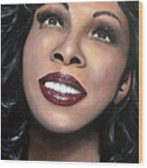 Donna Summer Wood Print by Tom Carlton