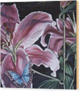 Donna's Flowers Wood Print