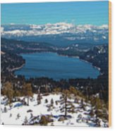 Donner Lake Sierra Nevadas Wood Print