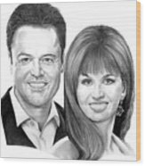 Donnie And Marie Osmond Wood Print