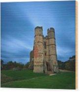 Donnington Castle At Dusk Wood Print