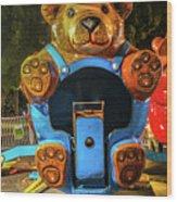 Don't Feed The Bears Wood Print