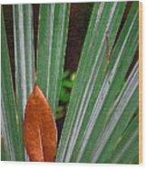 Don't Leaf Wood Print