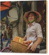 Donut Seller Wood Print