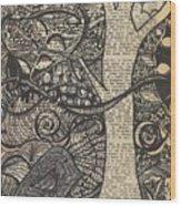 Doodle Bird Wood Print