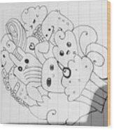 Doodle Wood Print