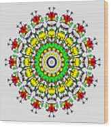 Doodle Mandala Wood Print