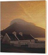 Doogort And Slievemore, Achill Island Wood Print
