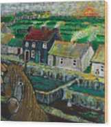Doolin Ireland Sunset Wood Print