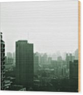 Doomsday Shanghai Wood Print by Christine Till