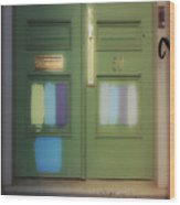 Door 50 Wood Print