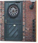Door And Wheel Wood Print
