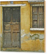 Door And Window Wood Print