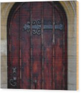 Door At Bath Abbey Wood Print
