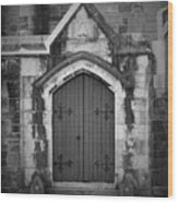 Door At St. Johns In Tralee Ireland Wood Print