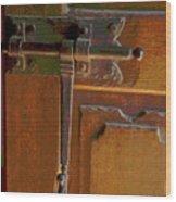 Door Bolt Wood Print