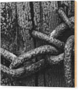 Door Chain Wood Print