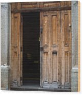 Door Entrance To Church In Guatemala Wood Print