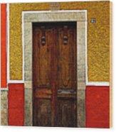 Door In Abstract Wood Print