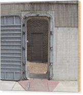Door In The Richmond Floodwall Wood Print
