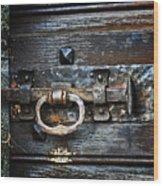 Door Latch Wood Print