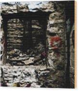Door Of Rock Wood Print