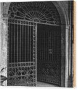 Door Of The Cabildo Wood Print