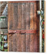 Door To Darkness Wood Print