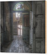 Door To Stairs Wood Print